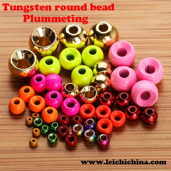 Plummeting tungsten round bead