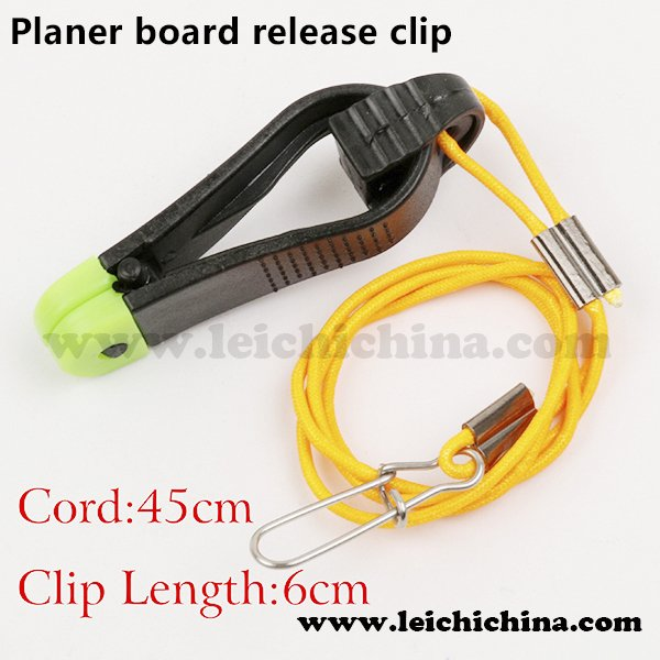 Downrigger Planer board release clips
