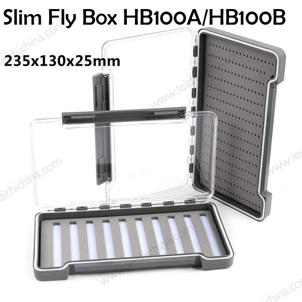 Slim Waterproof Fly Fishing Box HB100A / 100B