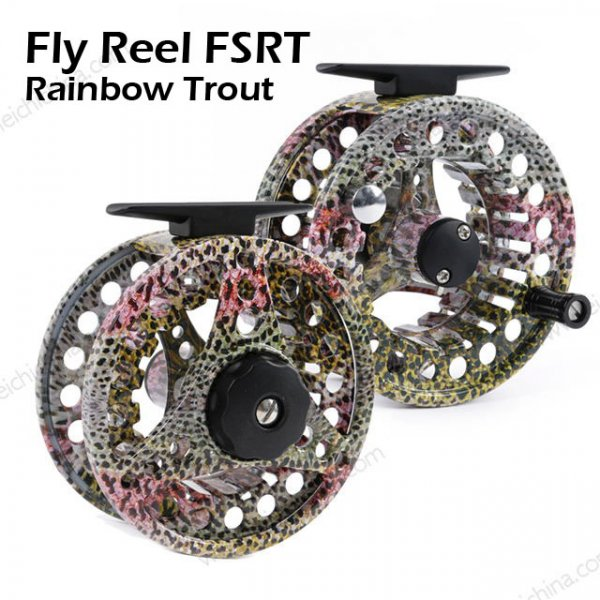 Rainbow Trout Skin Fly Fishing Reel FSRT