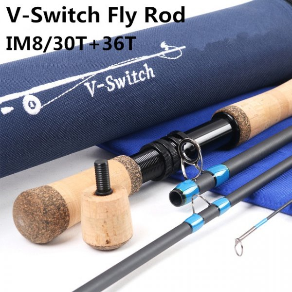 IM8/30T+36T SK carbon fiber fly rod V-Switch series