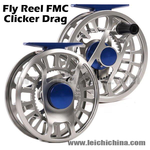 CNC Machine Cut Clicker Drag Fly Fishing Reel FMC
