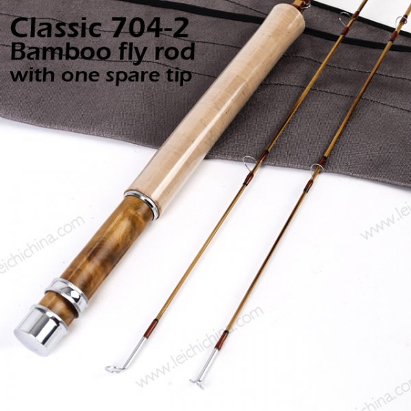 Classic 7042  Bamboo fly rod with one spare tip