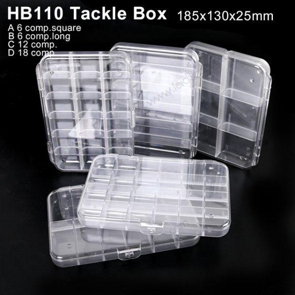 HB110 Clear Slim body Fishing Tackle Box