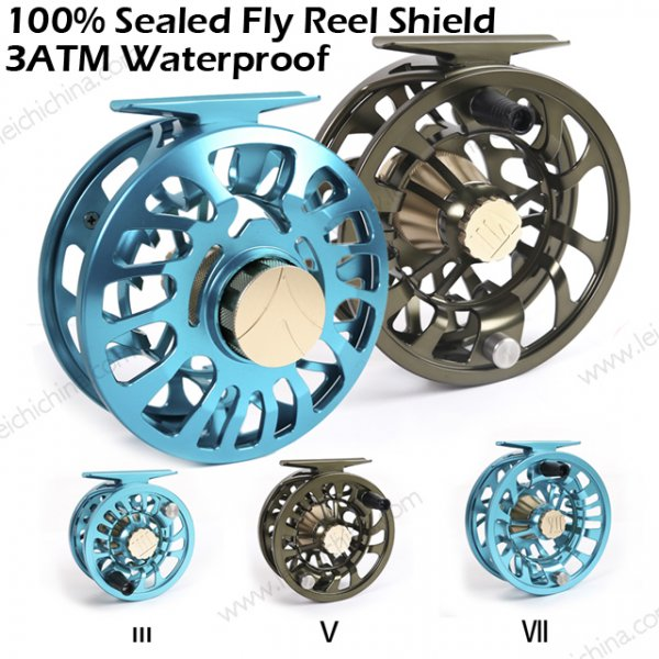 100% Sealed Fly Reel Shield 3ATM Waterproof