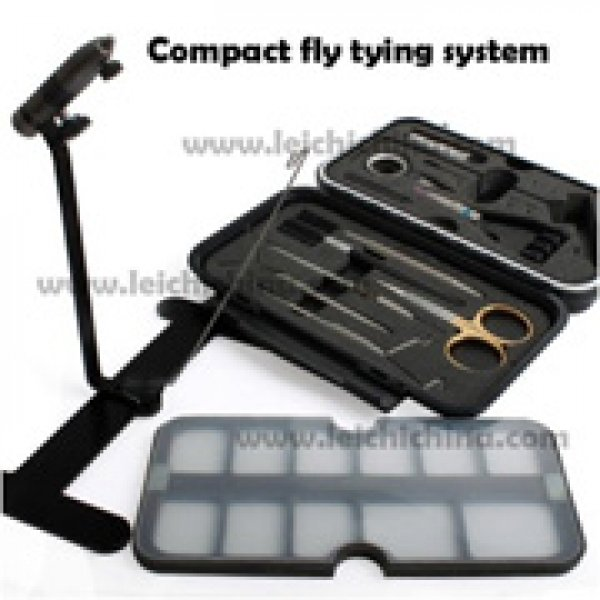 compact fly tying vise system