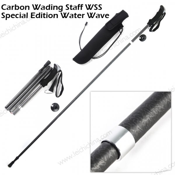 foldable carbon fiber wading staff