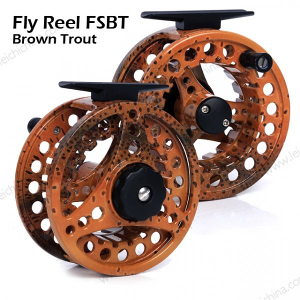 fly reel brown trout fish skin