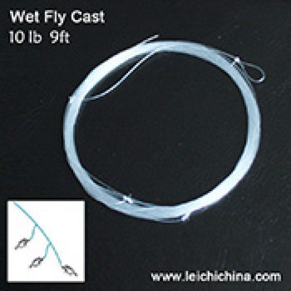 Wet fly cast (multi-shot leader)