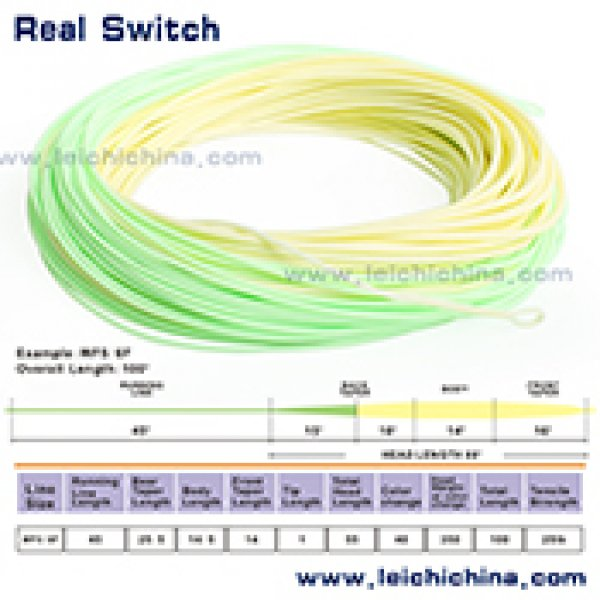 100ft Dual Color Weight Forward Switch Fly Fishing Line