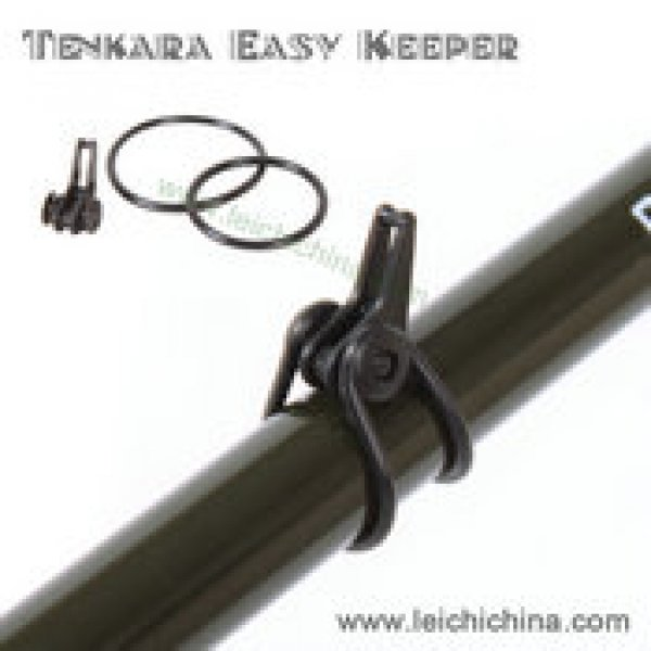 Plastic tenkara rod easy hook keeper