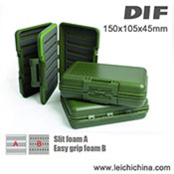 Exclusive waterproof 4 foam insert fly box DIF