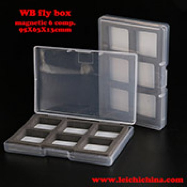 Super small magnetic compartment fly box WB