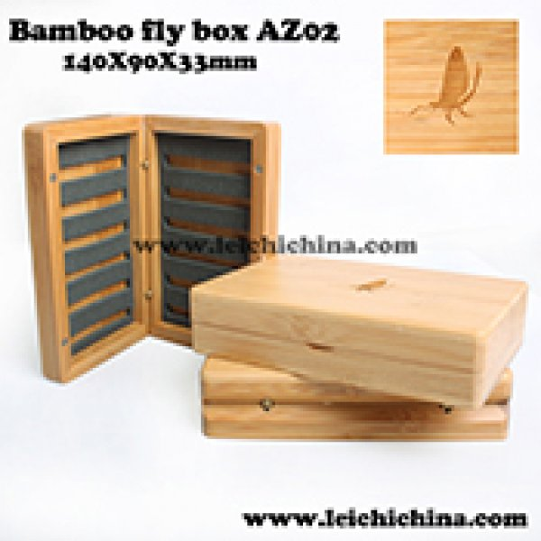 Top quality bamboo fly box AZ02