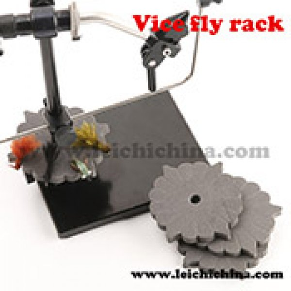 Fly tying Vice fly rack