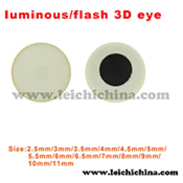 Luminous-flash 3D eye