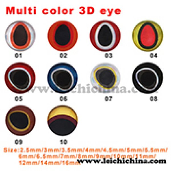 Multi color 3D eye