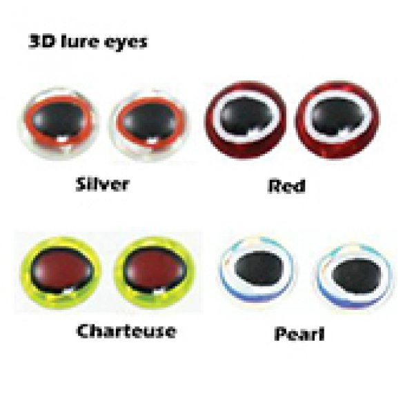 3D fishing lure eyes