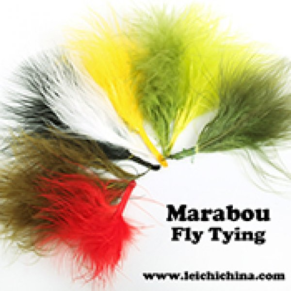 Fly tying feather marabou