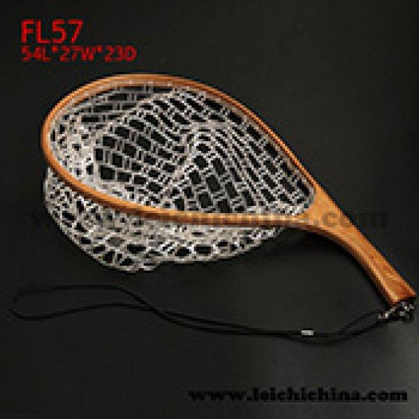 Curve handle rubber net tenkara landing net FL57