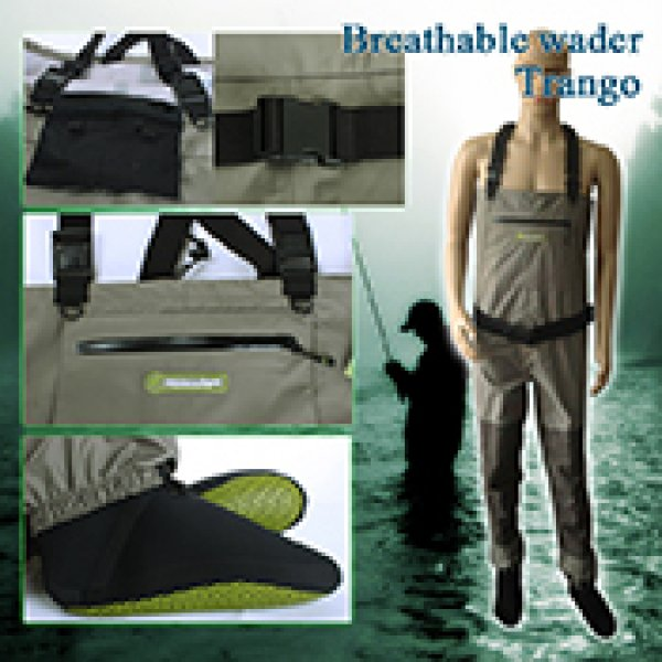 fly fishing breathable wader Trango