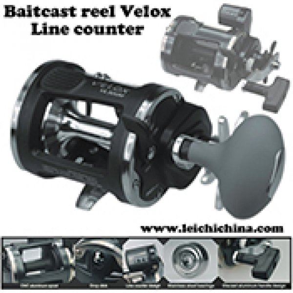 Graphite body line counter baitcast reel Velox