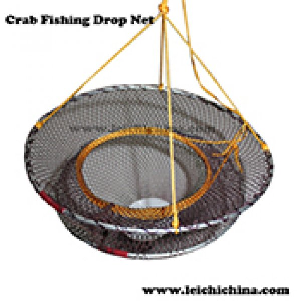 foldable crab fishing drop net