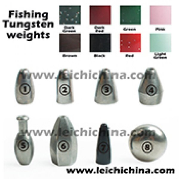 tungsten fishing weights