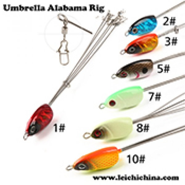 5 arms umbrella alabama rig