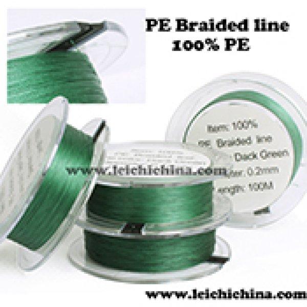 100% PE dyneema braided fishing line