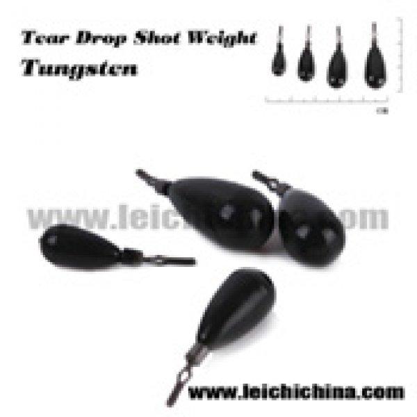 Tungsten tear drop shot weight