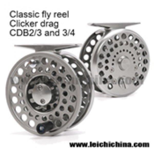 Classic CNC clicker drag fly fishing reel CDB