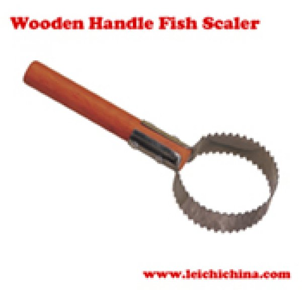 Wooden Handle Fish Scaler