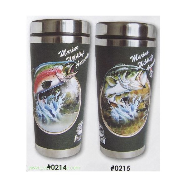 stainless steel travel mugs 0214 and 0215