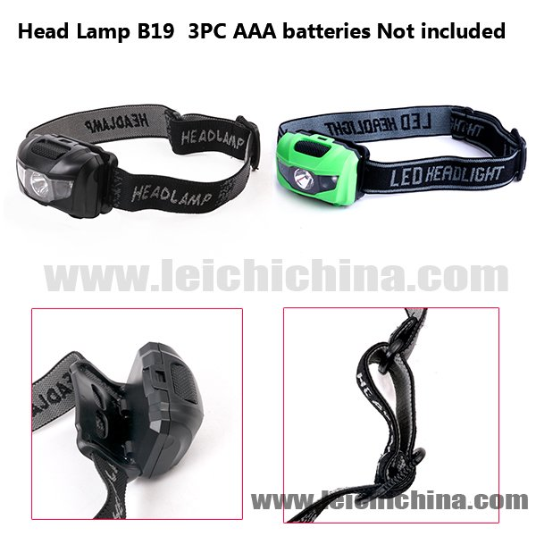 Head Lamp B19  3PC AAA batteries Not included
