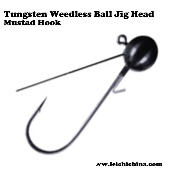 Tungsten Weedless Ball Jig Head