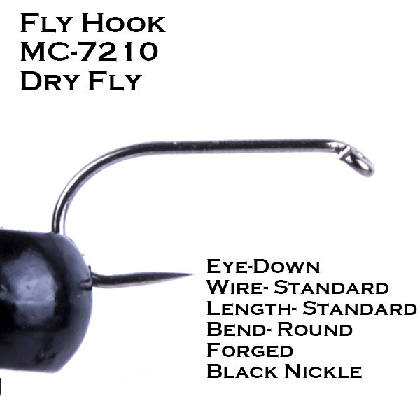 Barbless Fly Tying Hook MC7210