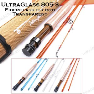 UltraGlass fiberglass fly fishing rod 8053