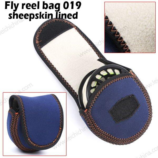 Fly reel bag 019 sheepskin lined