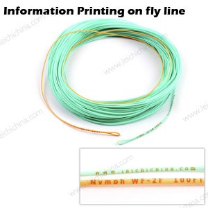 Information Printing on Fly Line