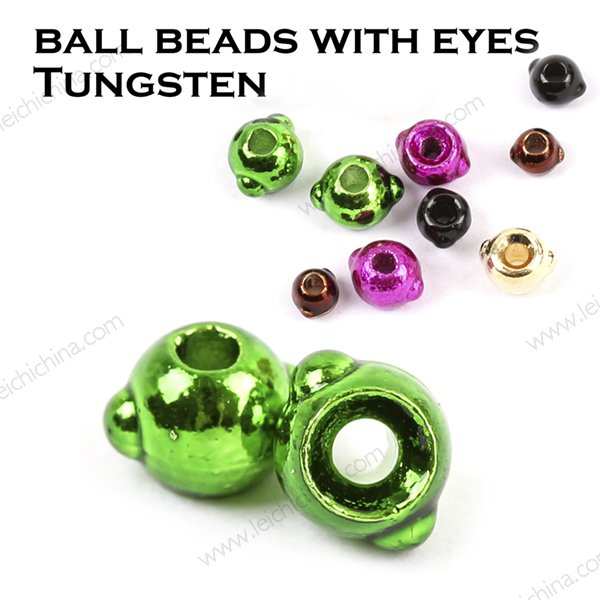 Ball Beads with eyes  Tungsten