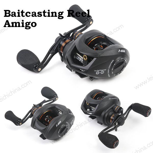 SK Baitcasting Reel Two Brake Magnetic Drag and Centrifugal Drag Systems Fishing